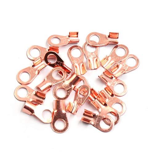 Sourcingmap 20pcs 5A Copper Ring Terminals Lug Battery Cable Connector: