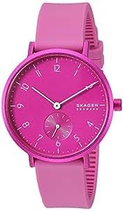 Skagen Women's Quartz Watch analog Display and Silicone Strap, SKW2803