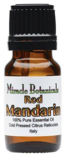 Miracle Botanicals Red Mandarin Essential Oil - 100% Pure Citrus Reticulata - 10ml and 30ml Sizes - Therapeutic Grade - Italy 10ml