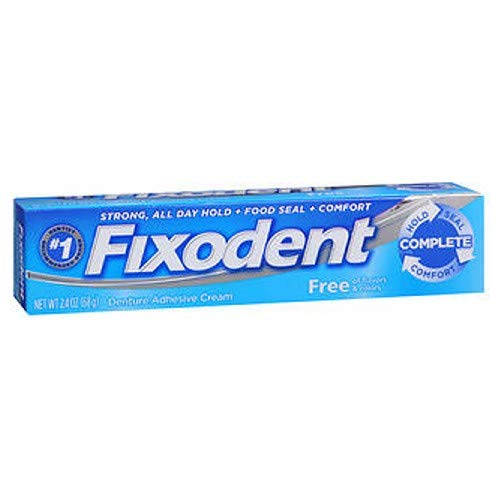 Fixodent Free Denture Adhesive Cream 2.40 oz (Pack of 3)