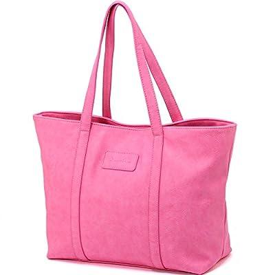 ZMSnow Women PU Leather Large Tote Purse Handbags Shoulder Shopping Bag