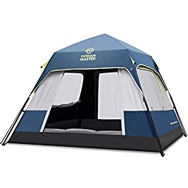 OutdoorMaster Tents, 4/6/8 Person Camping Tent with Dark Space Technology, Easy Setup in 60 Seconds, Weatherproof Pop Up…