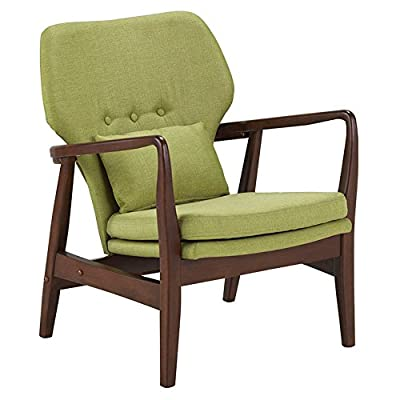 Baxton Studio Rundell Leisure Arm Chair - Overall dimensions: 29W x 34D x 27H in.; Arms: 28.08H in. Seat dimensions: 19.5W x 20.28D x 14.5H in. Choice of available fabric upholstery colors - living-room-furniture, living-room, accent-chairs - 41Tbmu6GKIL. SS400  -