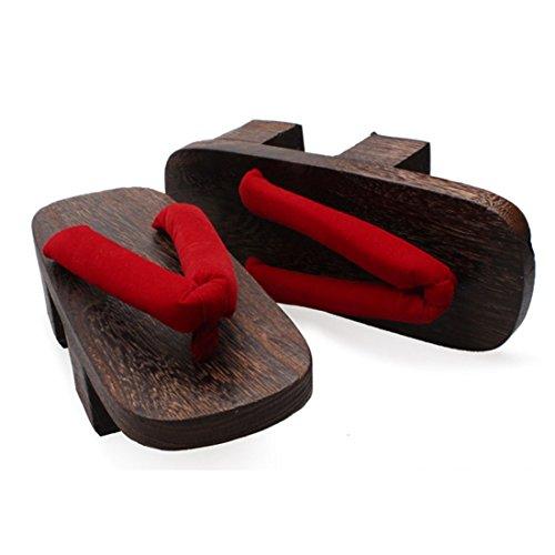 Donna In Legno Stile Giapponese Geta Zoccoli Sandali Calzature Se130-2