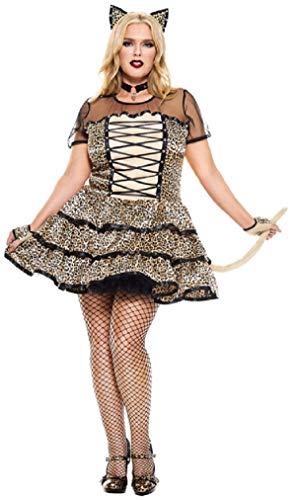 Music Legs Plus Size Cheeky Cheetah Costume, Plus Size Sexy Cheeky Cheetah Costume
