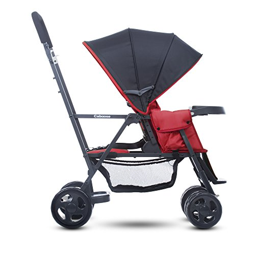 Amazon.com : Joovy Caboose Graphite Stand On Tandem Stroller, Red ...