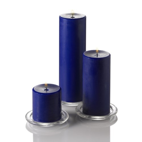 Richland 3'' X 6'' Hand Poured Navy Blue Pillar Candle Set of 12
