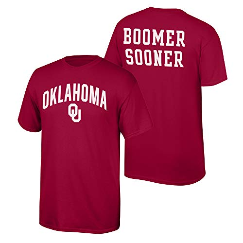 Elite Fan Shop NCAA Men's Oklahoma Sooners T Shirt Team Color Back Oklahoma Sooners Crimson Medium