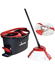 Vileda Turbo Microfibre Mop and Bucket Set with Extra 2-in-1 Refill