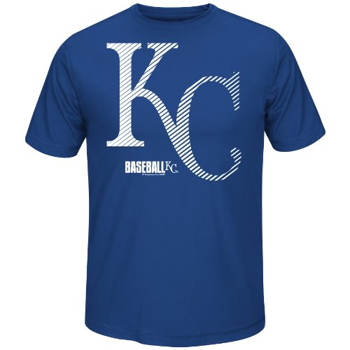 Kansas City Royals Shorts - MLB Kansas City Royals Men's Synthetic Crew Neck 6 Tee, Royal, Large