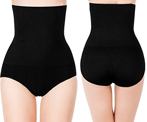 2-Pack High Waist Body Shaper Slimming Panties 360 Tummy Control Shapewear Butt Lifter Body Shaper