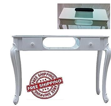 Good Manicure Table FIONA WHITE Nail Salon Furniture Queen Rise Style Salon Nail  Table Salon Furniture U0026
