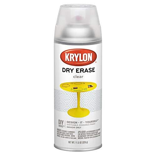Krylon K03940000 Clear Dry Erase Aerosol Paint, 12 ounces