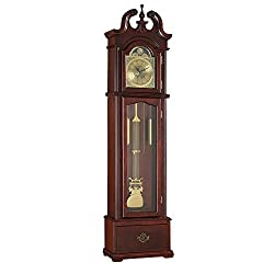 1PerfectChoice Valentine Grandfather Clock Westminster Pendulum Chimes Quartz Drawer Cherry