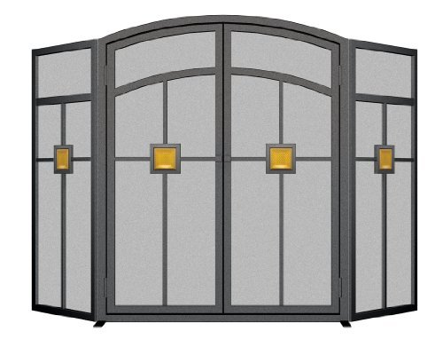 Panacea Products 15137 3-Panel Mission Fireplace Screen by Panacea Products