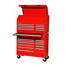 International VRA-4220RD 42-Inch 20 Drawer Red Toolbox with Ball-bearing Slides