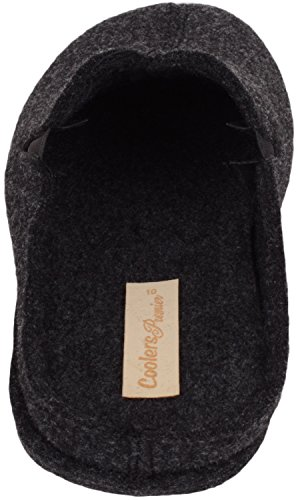 ABSOLUTE FOOTWEAR Mens Slip On Slippers/Mules/Indoor Shoes with Twin Gusset Charcoal m1ni11EENo