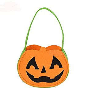 NIGHT-GRING Set of 3 Halloween Candy Goody Bag Basket Bucket Treat or Trick Hand Bag Festival Party Bags (3)