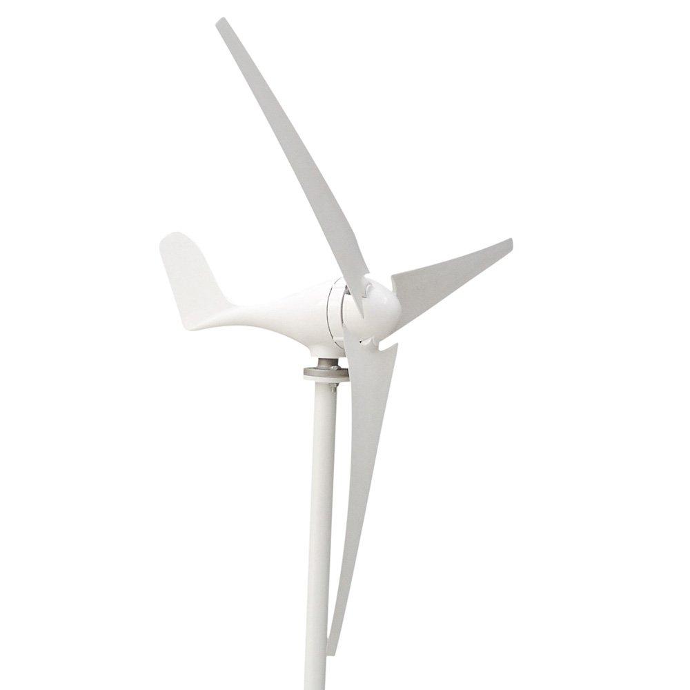 HUKOER Wind Turbine Generator Waterproof Wind Controller 12v/24v 100w/200w/300w/400w 3 Blades Low Wind Speed Starting Top Rated NSK Bearings Garden Street Lights Wind Turbines