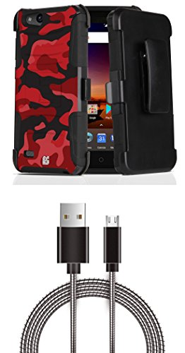 ZTE ZFive C LTE Z558VL - Bundle: Dual Layer Rugged Kickstand
