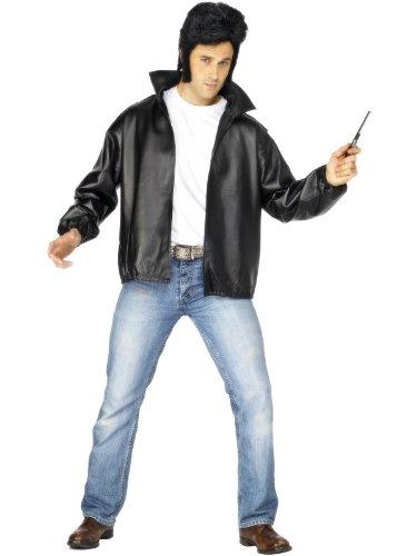 Grease Mens Costumes (Black Men's Grease T-birds Jacket)