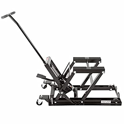 Rage Powersports BW-0101 Black Widow Foot-Operated Motorcycle or ATV Lift Jack Stand