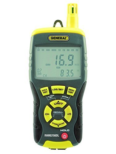 General Tools RHMG700DL Data Logging Precision Invasive/Non-Invasive Moisture Meter with Temperature, Humidity and GPP by General Tools