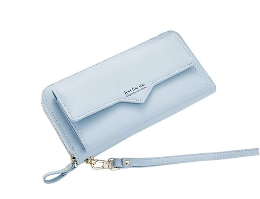 Long Wallets Women Female Pu Leather Soft Card Holder Chain Purse Luxury Clutch Bags by WUDEF