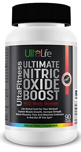 # 1 Nitric Oxide Booster - Ultimate oxyde nitrique suppléments L-Arginine + sont les meilleures pilules de pré-entraînement pour construire le muscle rapide, augmenter la force, réduire le temps de récupération et de maximiser Endurance In And Out Of The