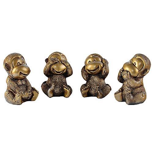 WY-BUILD Decoración Moderna de la Sala de Estar, Escultura de Mono, Estatua Abstracta de Animales, Escultura Decorativa, Dormitorio, Estudio, Oficina, gabinete de Vino, Regalo de Arte por WY-BUILD