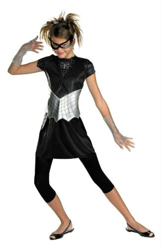 Costumes for All Occasions Dg50239K Spider Girl Black Suited 7-8