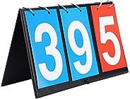 2/3/4 Digit Score Board Scoreboard,Portable Flip Sports Scoreboard Score Counter for Table Tennis Football Vol