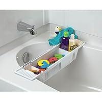 Cesta de almacenamiento para organizador de juguetes para baño KidCo, blanco