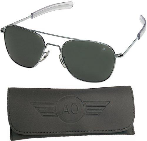 American Optical Flight Gear Original Pilot Sunglasses, 52mm lens, Chrome Frame