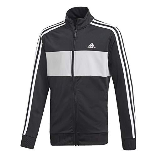 adidas Tiberio Tracksuit - Boys - Black/Grey/Black/White - Age 13-14