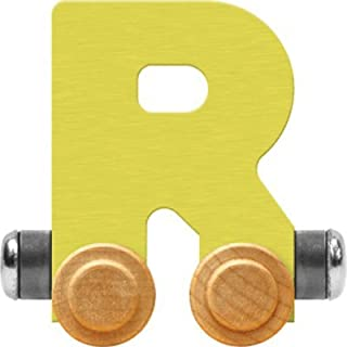 product image for Maple Landmark NameTrain Pastel Letter Car R - Made in USA (Yellow)