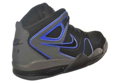 26ad0ad3 Amazon.com | Nike Air Flight Falcon Men's Basketball Shoes Black/Grey/Blue  Black/Grey/Blue 397204-044-14 | Basketball