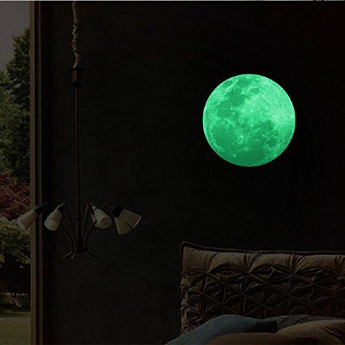 3D Night Luminous Moon Bird Removable Vinyl Wall Art Murals DIY Home Decals (C2)
