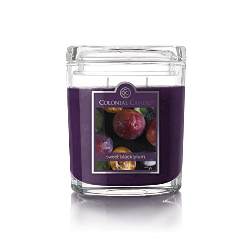 Colonial Candle Sweet Black Plum Oval Jar Candle, 8 oz, Purple - Oval Sweet