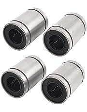 Rodamiento de bola lineal - TOOGOO(R)4 Pzs LM12UU 12mm diametro interior Forro de eje de rodamiento de bola lineal sellado de goma