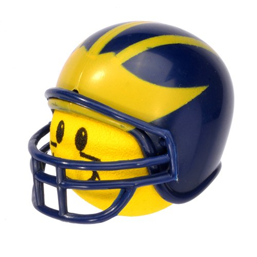 Antenna Balls HappyBalls Michigan Wolverines College Football Car Antenna Topper Rear View Mirror Dangler - Mirror Hanger (Yellow Face) Auto Accessory