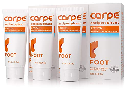 Carpe Antiperspirant Foot Lotion Package Deal (3 Foot Tubes Bundle and Save), Stop Sweaty, Smelly Feet, Help Prevent Blisters, Dermatologist-Recommended (Best Way To Deal With Blisters On Feet)