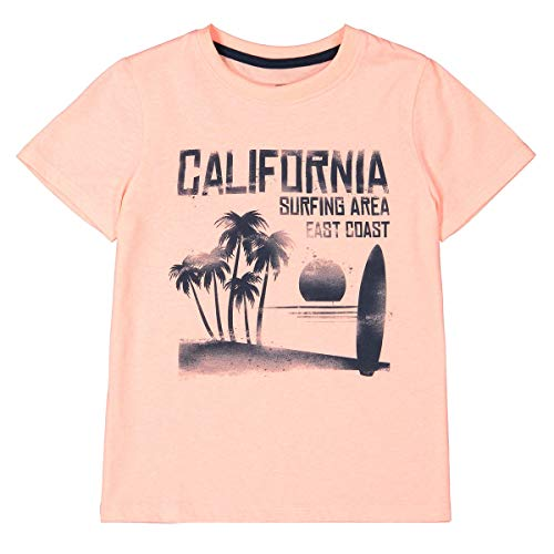 La Redoute Collections Printed Crew Neck T-Shirt, 3-12 Years Orange Size 3 Years (94 cm) from La Redoute