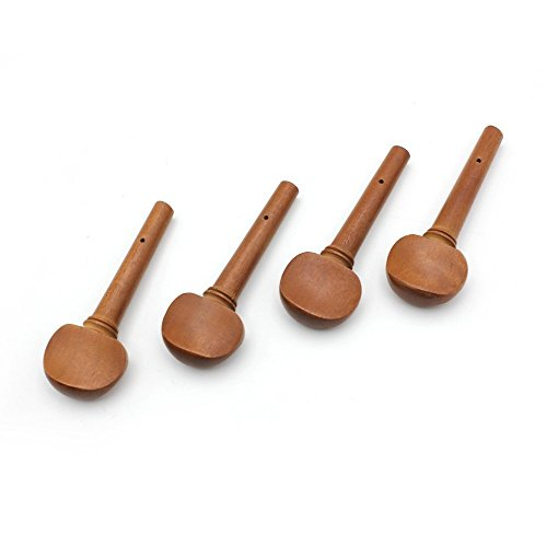 TOOGOO(R) 4pcs 4/4 Size Violin Fiddle Tuning Peg Set Jujube Wooden Replacement for 4/4 Size Violin