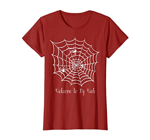 Spider Web T-Shirt Welcome To My Web