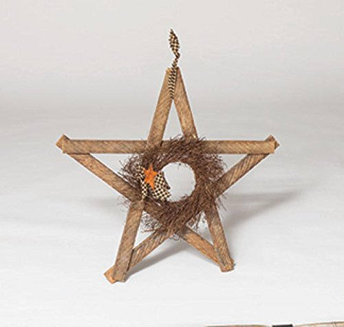 Rustic Unfinished Reclaimed Lath Wood Decorative Hanging Star Amish Made in USA