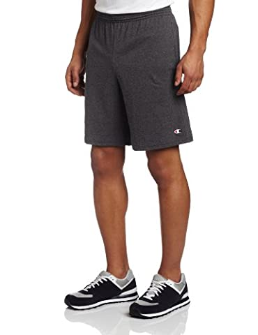 Champion Men's Jersey Short With Pockets, Granite Heather, Large - Basketball Jerseys Heather