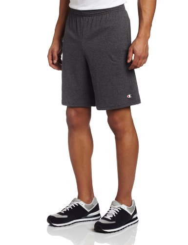 Champion Men's Jersey Short With Pockets, Granite Heather, X-Large by Champion