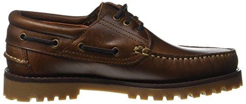 USG boat shoe - Zapatos de náutica, tamaño 43, color marrón Marrón (Braun)