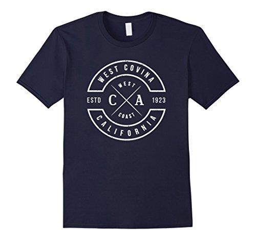 Mens West Covina California T Shirt Vintage Emblem Souvenirs Large - Covina West